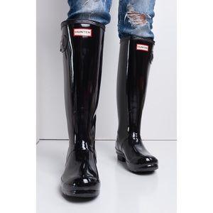 Hunter Adjustable Back Gloss Rain Boots